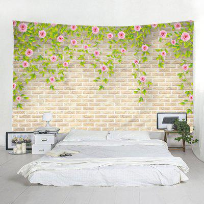 Indoor Wall Decoration Polyester Flower Printed Tapestry