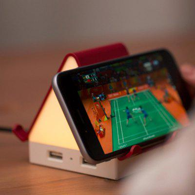 Multi-function Night Light Bedside Lamp Smart Multi-port USB Socket Mobile Phone Bracket