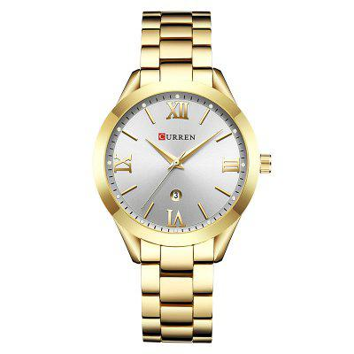 CURREN 9007 Simple dames stalen riem quartz horloge
