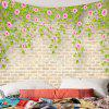 Indoor Wall Decoration Polyester Flower Printed Tapestry - MULTI-A