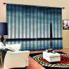 Sea Digital Printing Waterproof General Curtain 2pcs - MULTI-C