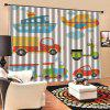 Desene animate digitale de imprimare Waterproof General Curtain 2pcs - MULTI-C
