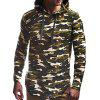 Moda Masculina Hoodie Sports Simples - VERDE-CAMUFLAGEM