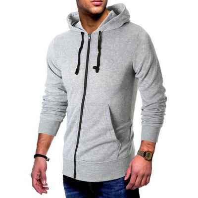 Men's Sweatshirt Solid Color Long Sleeve Pocket Design Hooded