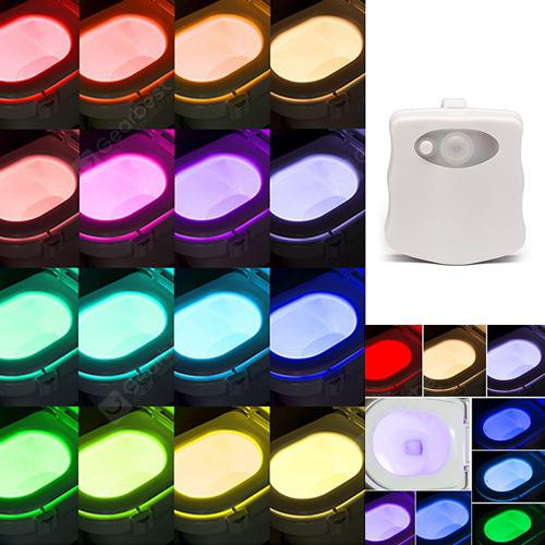 LED 16 Color Induction Toilet Light - Wh