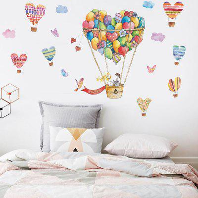 JM7335 Personality Creative Love Hot Air Balloon Pattern Wall Sticker