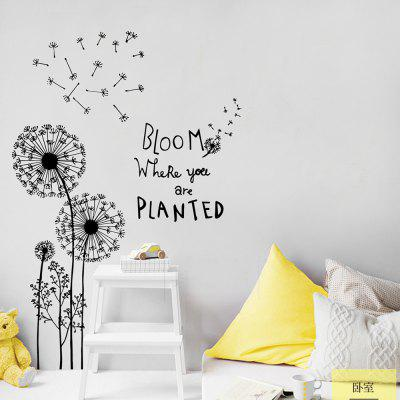 JM8390 Dandelion Removable Wall Sticker