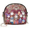 L95 Women's Casual Bohemian Style Chain Crossbody Bag Durable - PURPLE