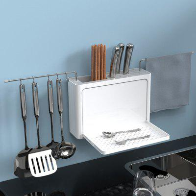 5-in-1 Kitchen Wall-mounted Large Capacity Drain Storage Rack