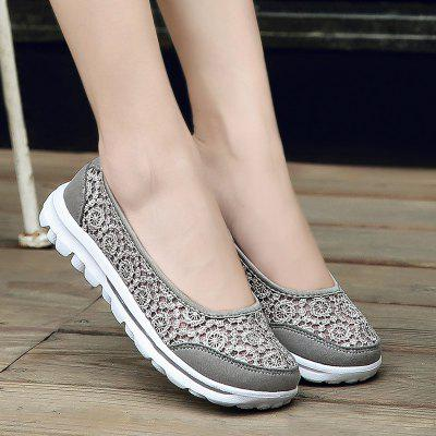 Ladies Fashion Lace Breathable Casual Shoes