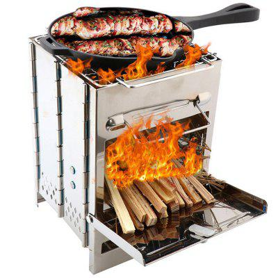Integrated Stainless Steel Folding Portable Barbecue Grill