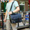 Muhan9006 Men  's Retro Design PU Crossbody Bag mare capacitate - CăRBUNE