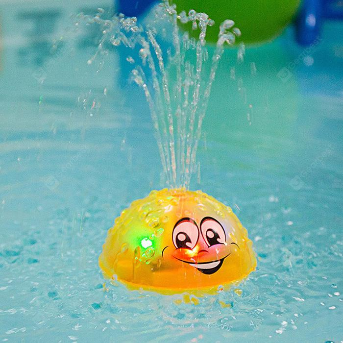 Electric Induction Water Spray Ball Baby Bath Toy