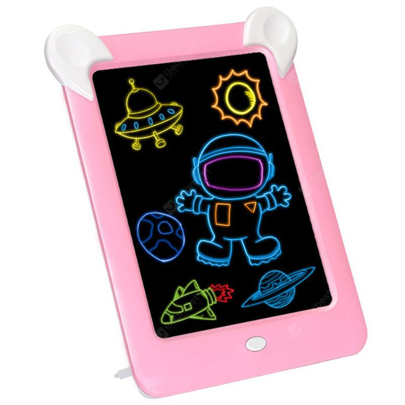 3D Children Magic LED Luminous Drawing Board - Pink