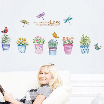 JM7305 Osobnost Fresh Potted Corridor Wall Sticker