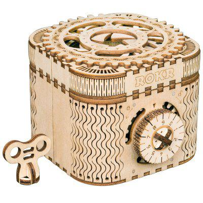 Robotime LK502 Wooden Puzzle Hand-assembled Creative Gift Cipher Box
