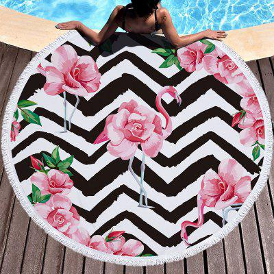 Flamingo Thick Round Beach Towel 3D Yoga Mat