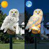 Solar Powered Owl LED Lawn Lamp Waterproof Floor Light - WARM WHITE