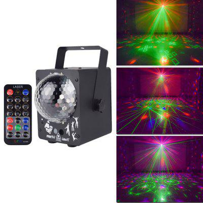 Multi-pattern Laser Light LED Magic Ball KTV Flash Sound Control Stage Lighting Home Colorful Lamp