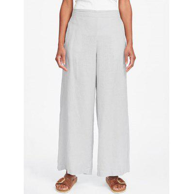Women's Trousers Solid Color Loose Wide Leg