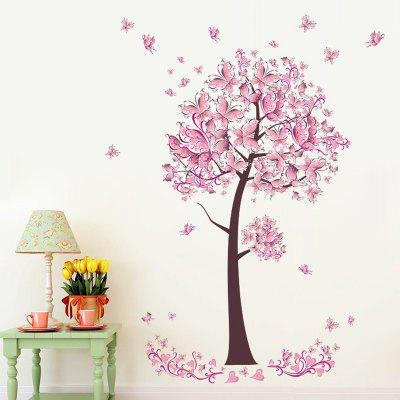 ZY075 Pansy Tree Fashion Home Wall Decal Sticker