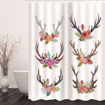 Fashion Home Digital Printing Waterproof Shower Curtain