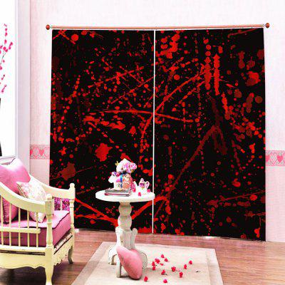 Printed Environmentally Friendly Waterproof Bedroom Curtain