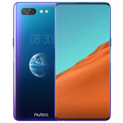 Gearbest Nubia X Dual Screen 4G Phablet International Version - Ocean Blue 6.26 inch + 5.1inch Android 8.1 Qualcomm SDM 845 Octa Core 8GB RAM 128GB ROM 16.0MP + 24.0MP Camera 3800mAh Battery