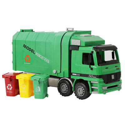 RY041 Simulation Inertia Cleaning Car Model Sanitation Truck Toy