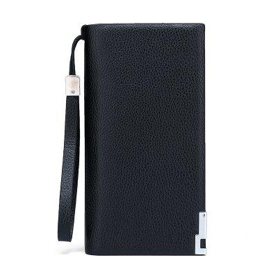 Men's Wallet PU Leather Solid Color Classic Practical