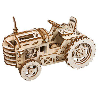 Robotime LK4013D 3D Puzzle Hand-assembled Wooden Toy Off-road Tractor