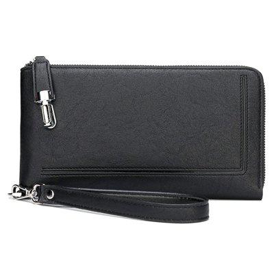 xiaopang1190 Men's Solid Color Business Casual Wallet Portable