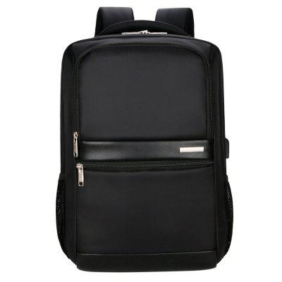 huaqi1097 Men's Business Casual Waterproof Backpack Classic Computer Bag