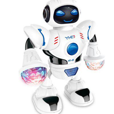 RY096 Electric Dazzle Dance Robot Toy met LED-lichtmuziek