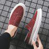 Men's Summer Stitching Canvas Breathable Casual Shoes Slip-on - RED