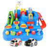 RY052 Car Airplane Track Parking Lot Combination Toys - OCEAN BLUE