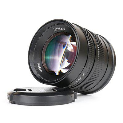 7 Artisans 55mm F1.4T Large Aperture Micro Single Fixed Focus Portrait Lens for E-port Fuji Canon Leica T