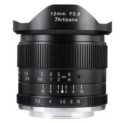 7 Artisans 12mm F2.8 Wide-angle Fixed-focus Lens for E Mouth Canon Fuji