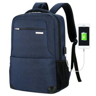 Men's Backpack Waterproof Nylon Business Casual Large Capacity USB Charging