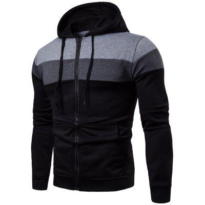 Men's Hoodie Fashion Creative Stitching Sleeves Casual Sports