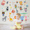 HM92025 Cute Animal Creative Refrigerator Wall Decal Sticker - MULTI-A