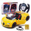 RY023 2.4G 4CH RC Car with Light / Gravity Sensing - YELLOW