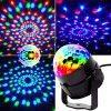 Mini Magic Ball LED Rotating Stage Lamp 100 - 240V - BLACK
