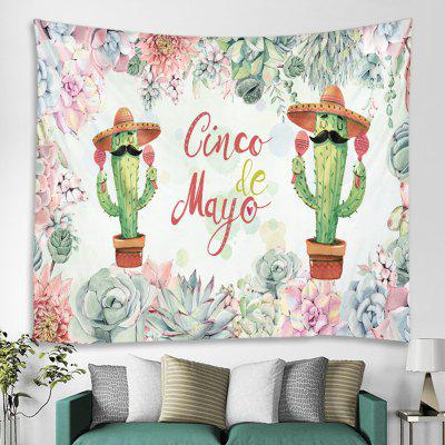 Cactus Pattern Home Decor Tapestry