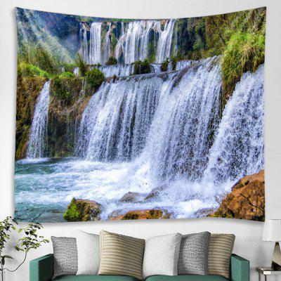 Alpine Flowing Waterfall Pattern Decorative Tapestry