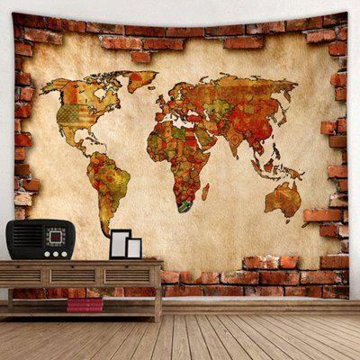 World Map Pattern Polyester Tapestry