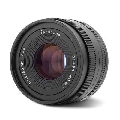 7 Artisans 50mm F1.8 Large Aperture Micro Single Fixed Focus Lens for E-port Canon Fuji Panasonic