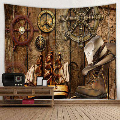 Pirate Ship Pattern Tapestry