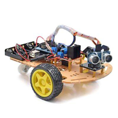 LEBANGSHOU DIY L298N 2WD Ultrasonic Rastreamento Inteligente Robot Car Kit para Arduino