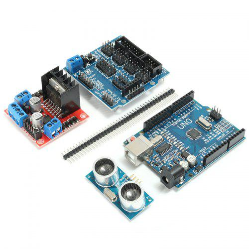 LEBANGSHOU DIY L298N 2WD Ultrasonic Smart Tracking Motor Robot Car Kit for Arduino